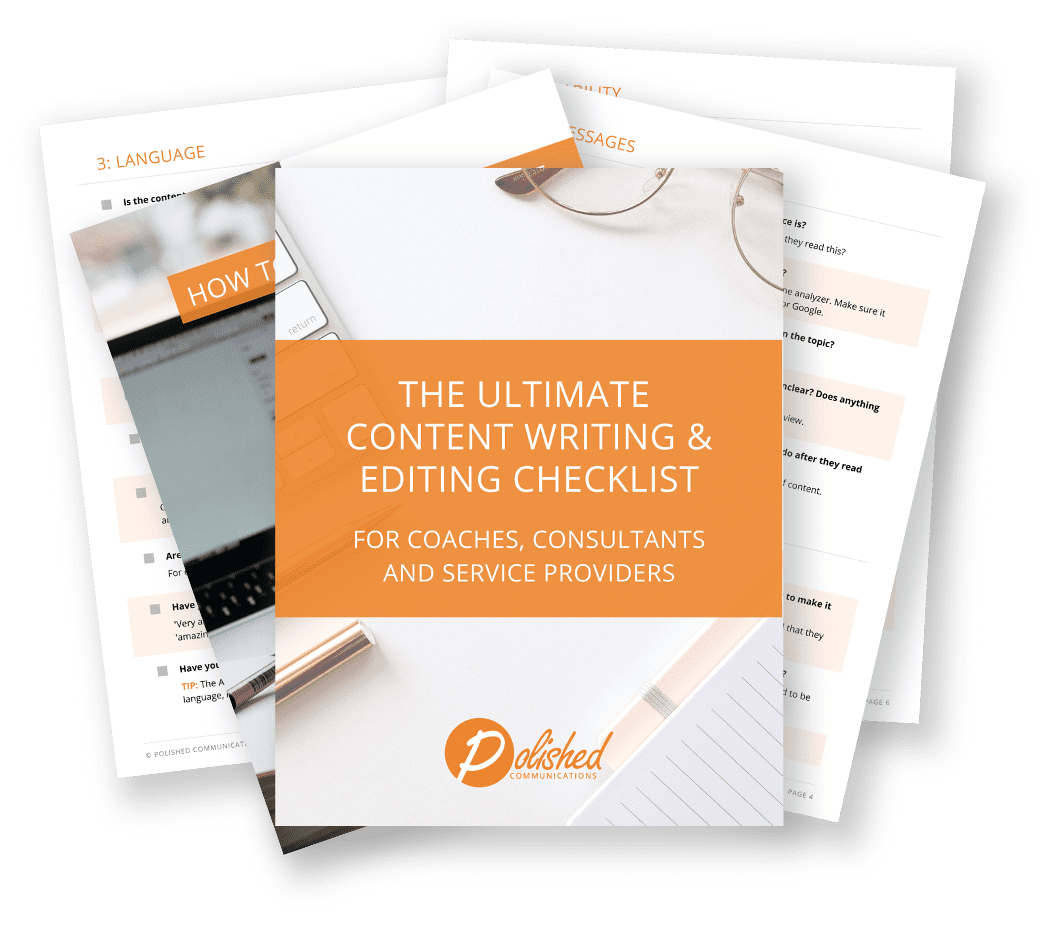 Ultimate Content Writing And Editing Checklist Mockup